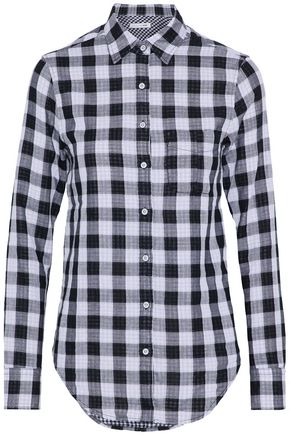 RAG & BONE/JEAN Checked woven cotton top