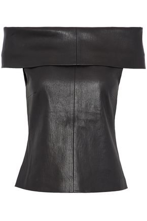 ROSETTA GETTY Off-the-shoulder leather top