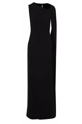 ROSETTA GETTY Asymmetric draped wool gown