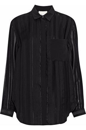 3.1 PHILLIP LIM Striped fil coupé silk-blend georgette shirt