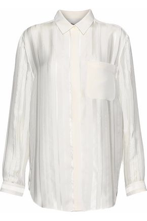 3.1 PHILLIP LIM Striped fil coupé silk-blend georgette shirt