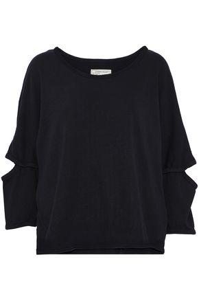 CURRENT/ELLIOTT Cutout cotton-jersey top