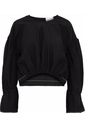 3.1 PHILLIP LIM Shirred cotton-poplin top