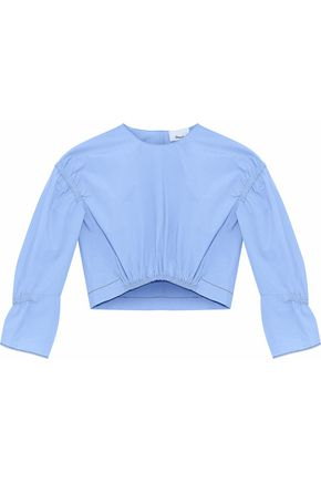 3.1 PHILLIP LIM Shirred cotton-poplin top