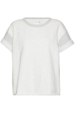 RAG & BONE/JEAN Slub cotton-terry top