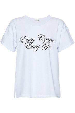 RAG & BONE/JEAN Printed slub cotton-jersey T-shirt