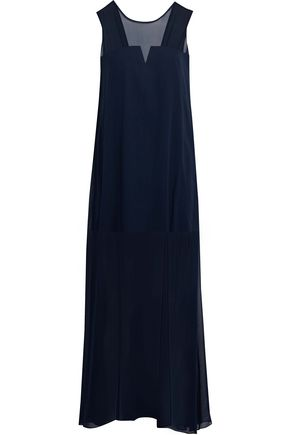 MILLY Charlene silk-chiffon gown
