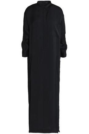 HAIDER ACKERMANN Smocked crepe de chine midi dress