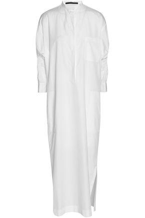 HAIDER ACKERMANN Smocked cotton-poplin midi shirt dress