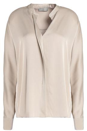 VINCE. Stretch silk-satin shirt