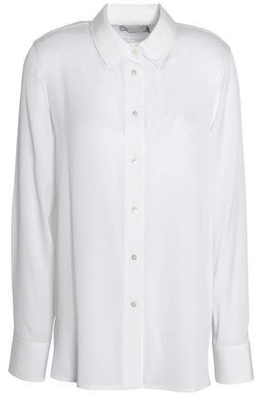 VINCE. Stretch-silk shirt