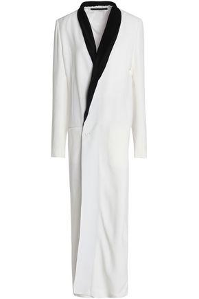HAIDER ACKERMANN Wrap-effect satin-trimmed crepe de chine maxi dress