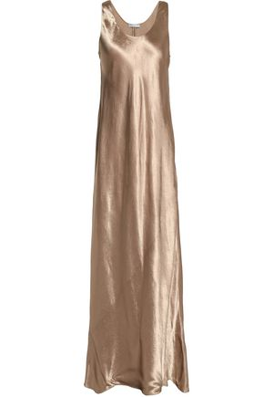 VINCE. Metallic satin maxi dress