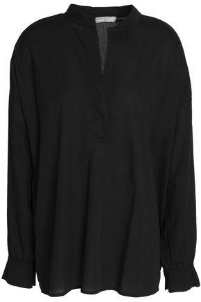 VINCE. Trapunto cotton-voile blouse