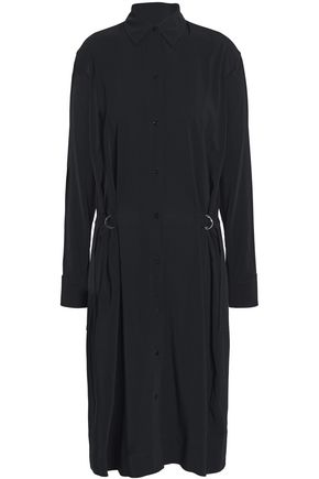 VINCE. Buckled crepe shirt dress