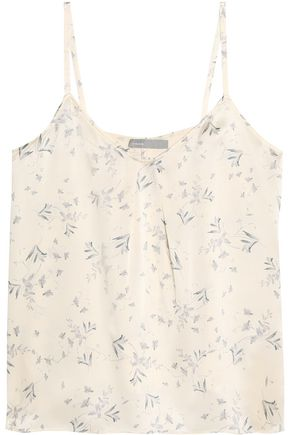 VINCE. Printed silk top