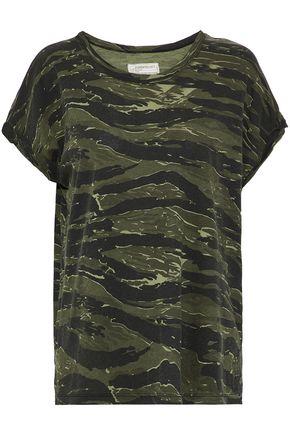 CURRENT/ELLIOTT Printed cotton-jersey T-shirt