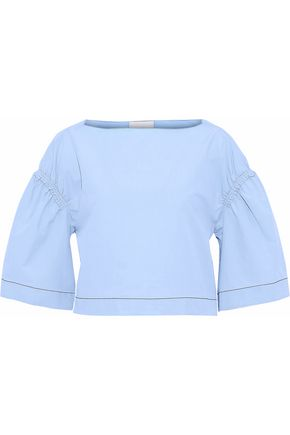 3.1 PHILLIP LIM Cropped cotton-poplin top