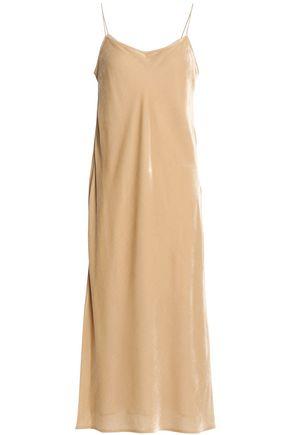 VINCE. Velvet midi slip dress