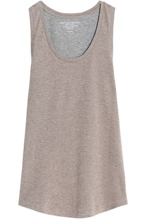 MAJESTIC FILATURES Marled cotton and cashmere-blend jersey top