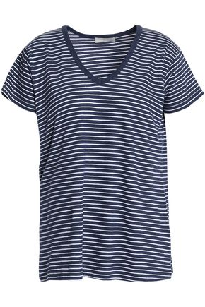 VINCE. Striped cotton-jersey T-shirt