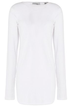 VINCE. Pima cotton and cashmere-blend jersey top