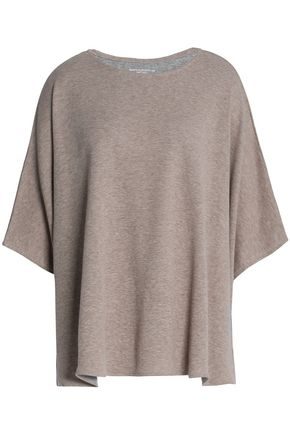 MAJESTIC FILATURES Mélange cotton and cashmere-blend jersey top