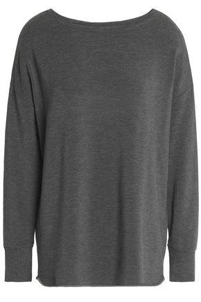 MAJESTIC FILATURES Mélange stretch-jersey top