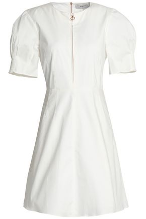 TIBI Stretch-cotton flared mini dress