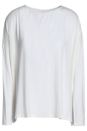 MAJESTIC FILATURES Marled stretch-jersey top