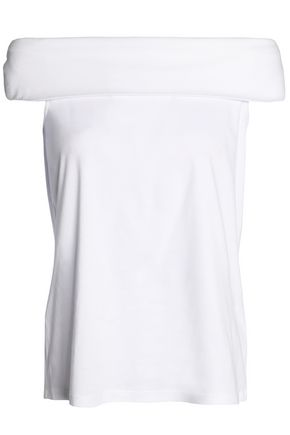 TIBI Off-the-shoulder cotton-jersey top