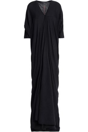 RICK OWENS LILIES Draped jersey maxi dress