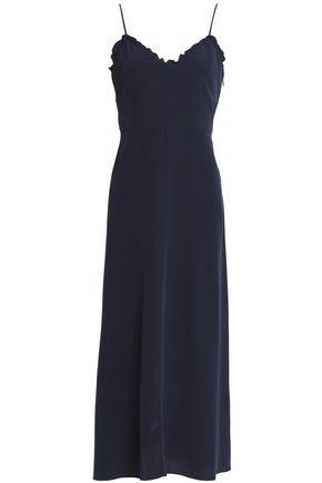 TIBI Pleated silk-satin midi slip dress