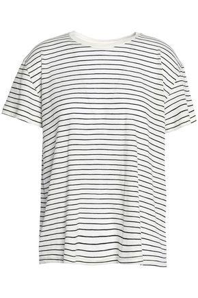 VINCE. Striped Pima cotton top