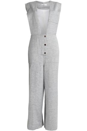 TIBI Cotton and linen-blend twill jumpsuit