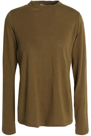 VINCE. Cotton and cashmere-blend top