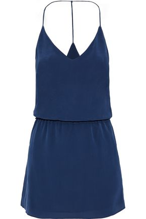 VIX PAULAHERMANNY Kim washed-silk mini dress