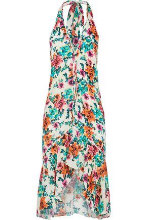 VIX PAULAHERMANNY Ruffled floral-print voile halterneck dress