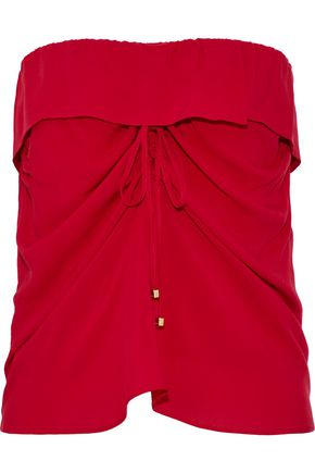 VIX PAULAHERMANNY Strapless ruched voile top