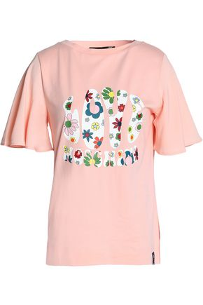 LOVE MOSCHINO Printed cotton and modal-blend jersey T-shirt