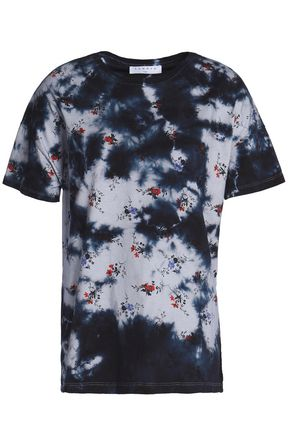 SANDRO Paris Printed tie-dyed cotton-jersey T-shirt
