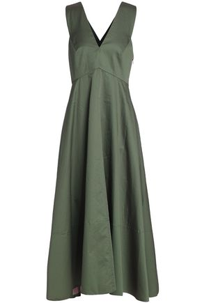 TIBI Cotton-poplin maxi dress