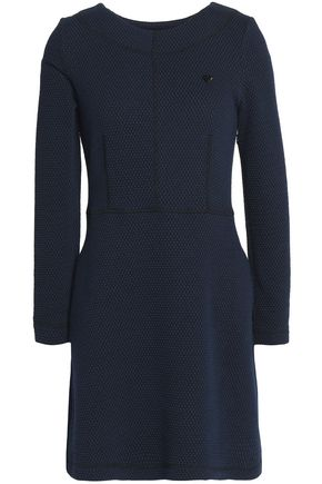 LOVE MOSCHINO Jacquard cotton-blend mini dress
