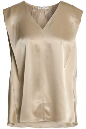HALSTON HERITAGE Draped satin top