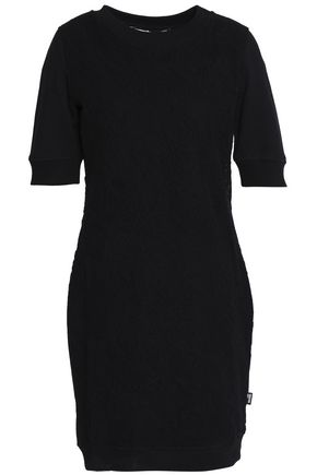 LOVE MOSCHINO Matelassé stretch-cotton mini dress