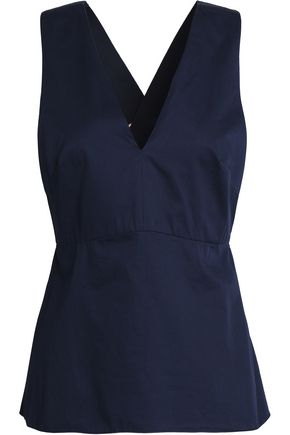 TIBI Cotton-poplin top