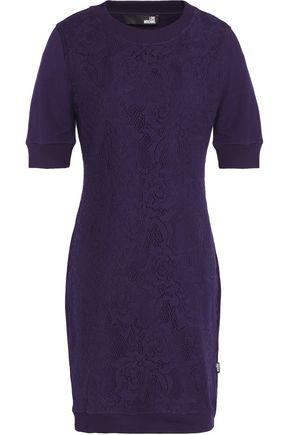 LOVE MOSCHINO Matelass� stretch-cotton mini dress