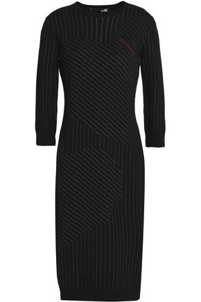 LOVE MOSCHINO Pinstriped knitted dress