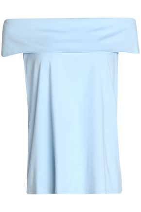 TIBI Off-the-shoulder cotton jersey top