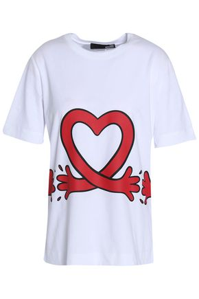 LOVE MOSCHINO Printed cotton-jersey T-shirt